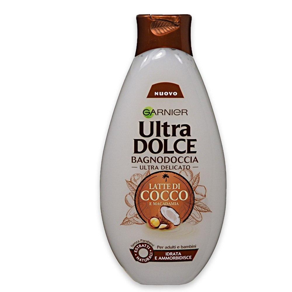 check out 4c0db f871c Garnier Ultra Dolce Bagnodoccia Latte di Cocco e Macadamia